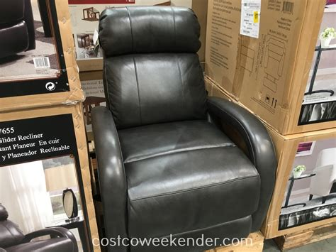 barcalounger leather swivel glider recliner chair costco
