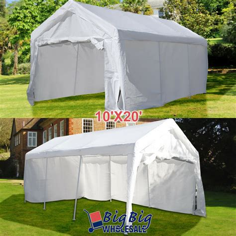 10x20 car 10 x20 white heavy duty portable garage carport car