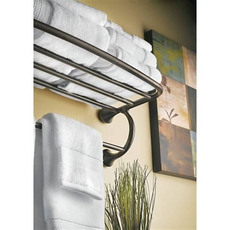 moen ybbn eva brushed nickel towel rack shelf bathroom
