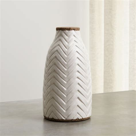 adra white chevron vase reviews crate  barrel