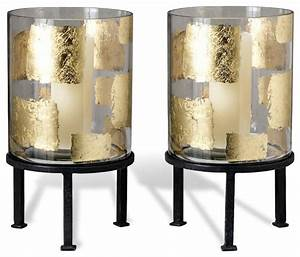 pair modern gold leaf large floor hurricane candle holders With kitchen cabinets lowes with floor hurricane candle holder stands