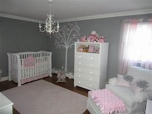 idee deco chambre bebe fille rose et gris With chambre enfant gris et rose