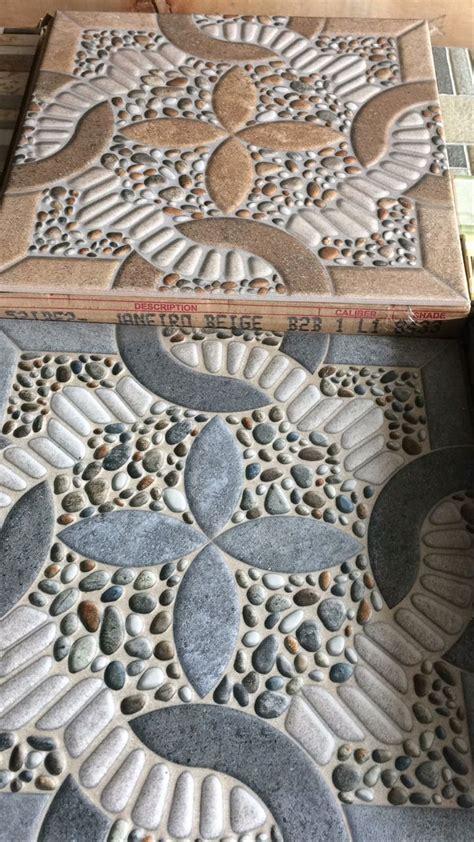 konsep  motif keramik lantai teras depan