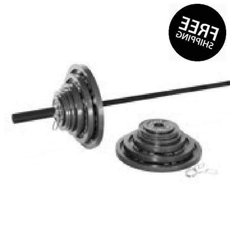 cap barbell  lb cast iron olympic weight set