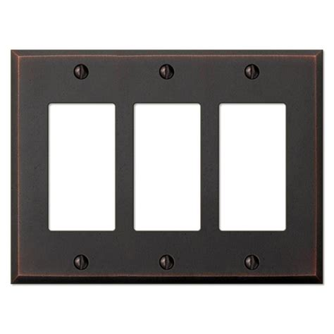 amerelle leaf 2 toggle wall plate aged hton bay sonoma 2 decora wall plate aged bronze