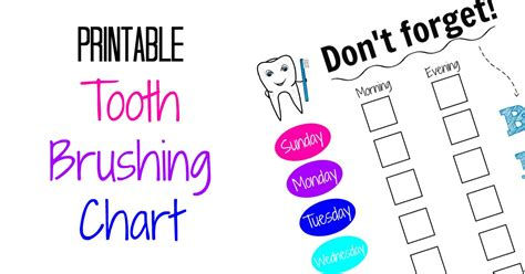 Printable Toothbrushing Chart For Kids