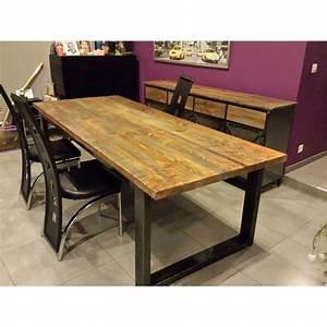 Table A Manger Industrielle : table salle manger industriel ~ Teatrodelosmanantiales.com Idées de Décoration