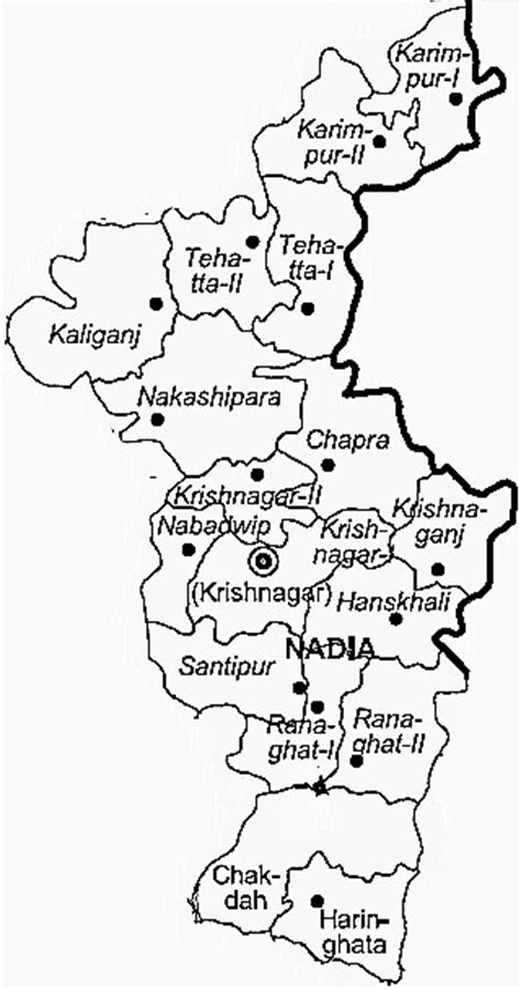 nadia district nadia district map