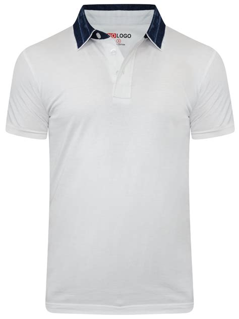 t shirt buy t shirts nologo white polo t shirt with denim