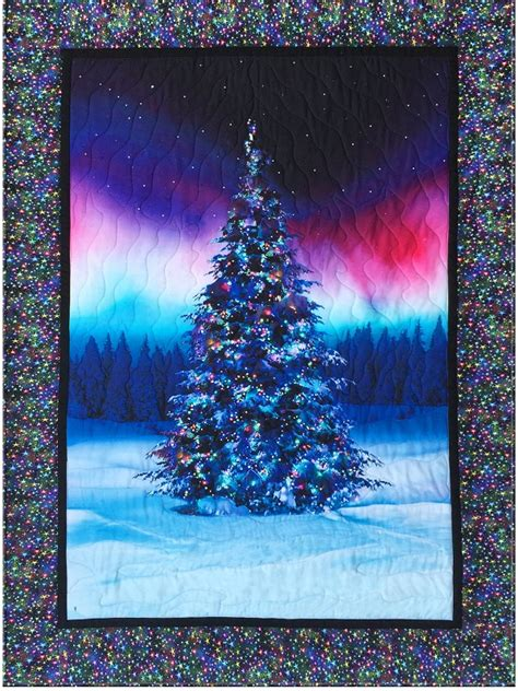 northern lights christmas tree christmas lights card and