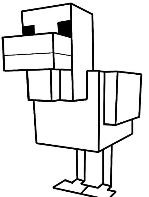 disegni da colorare minecraft scp disegno di pollo di minecraft da colorare