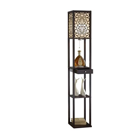 Etagere Floor L With Shelves by Artiva 63 In Expresso Etagere Shelf Floor L With