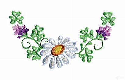 Clipart Floral Border Embroidery Daisy Flower Simple