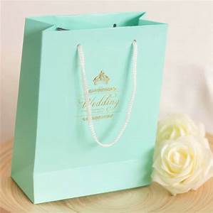 hot sale tiffany blue diy gift bags wedding favor bag With wedding favor gift bags