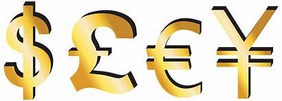 Pound Euro Dollar Yen Clipart Signs Money