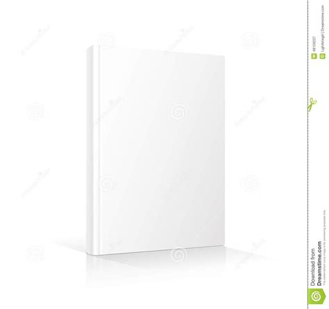 Blank Vertical Book Cover Template Standing On Stock