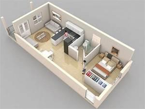 Small, Studio, Apartment, Layout, Design, Ideas, 1