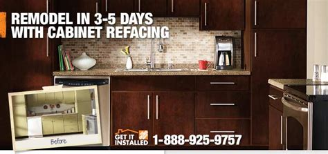 home depot cabinet refinishing kitchen cabinet refacing by the professionals at the home