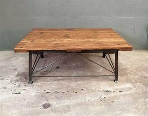 Table Industrielle Bois : table basse industrielle 2 ~ Teatrodelosmanantiales.com Idées de Décoration