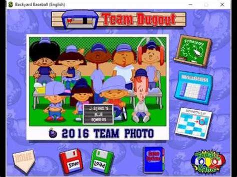 Backyard Baseball 1997 by Backyard Baseball 1997 Blue Bombers Draft