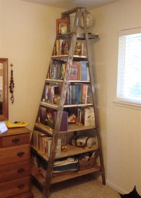 book shelf      ft wooden ladder