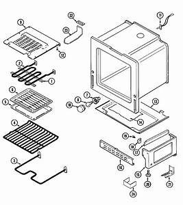 Oven  Base Diagram  U0026 Parts List For Model Che9800bcb Maytag