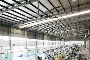 hvls fan large 24ft 73m big industrial ceiling With big fans for warehouse
