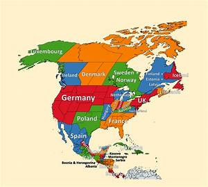 Comparing the population sizes of countries in North ...