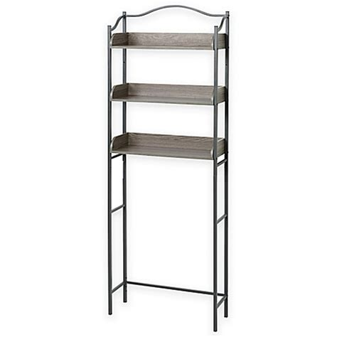 zenna home 174 pewter 3 tier over the toilet space saver