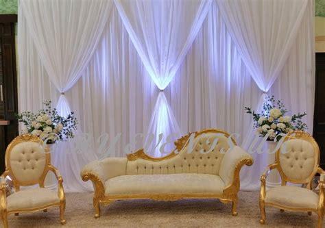 10ft(h) * 20ft(w) Pure White Luxury Wedding Backdrop