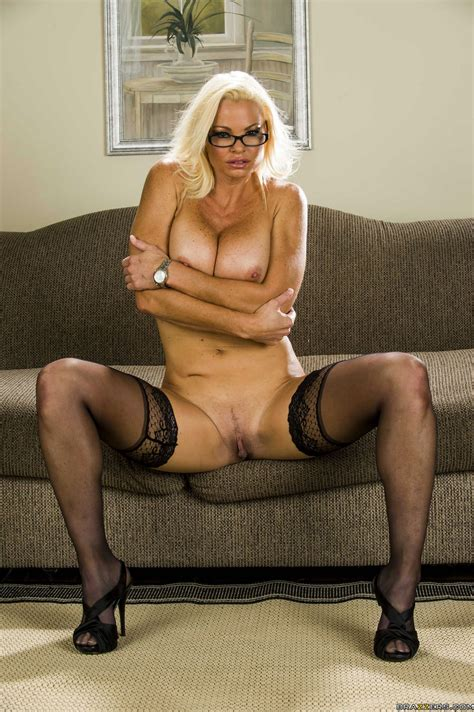 Rhylee Richards In Black Stockings Posing For Your