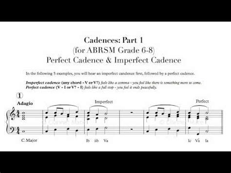 Music theory information sheets abrsm grade 5 | sharon bill. Perfect Vs. Interrupted Cadence: 5 Examples 10 Exercises! (Abrsm Aural Gr .. 🎶 YouTube Videos