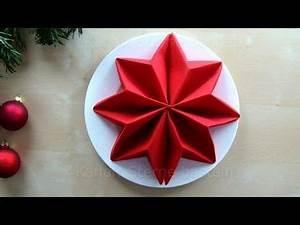 Papierservietten Falten Weihnachten : servietten falten anleitung stern f r weihnachten basteln weihnachtsdeko tischdeko ~ Watch28wear.com Haus und Dekorationen