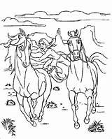 Coloring Horse Herd Horses Wild Printable Adult Getcolorings sketch template