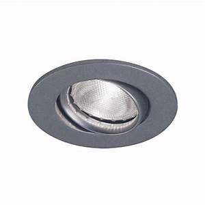 Bazz series in satin recessed halogen light fixture