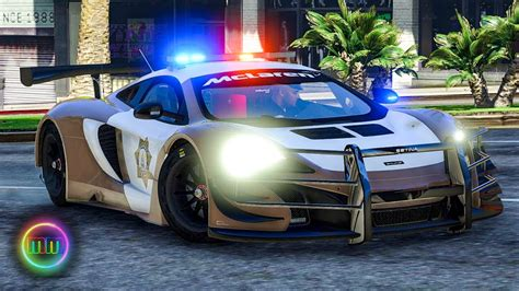 gta  lspdfr sports car patrol mclaren  gt youtube