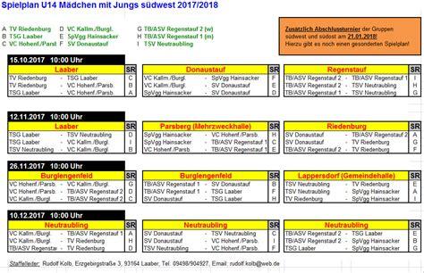 u14 weiblich saison 2017 18 tv riedenburg
