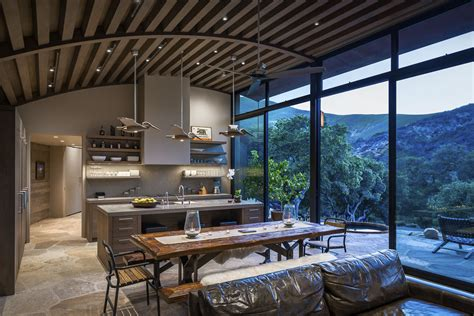 country kitchen tables rustic modern country house in santa barbara with curved