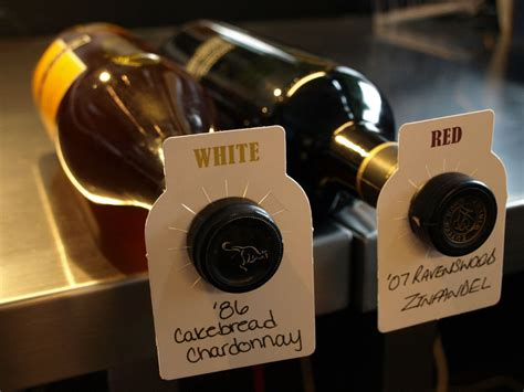 Wine Cellar Bottle Tags Dual Labeled (redwhite) Highest