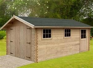 Garage En Bois 20m2 : un garage en bois qui conjugue prix et qualit blog ~ Dailycaller-alerts.com Idées de Décoration
