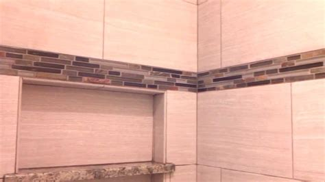 tiled shower shelf ideas tile walk in shower with custom niche and granite seat
