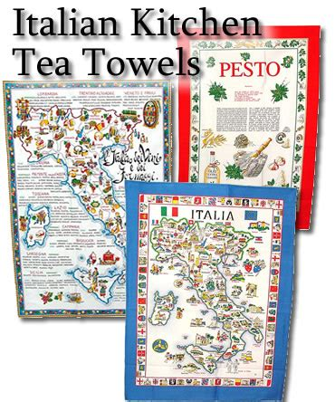 Kitchen Tea Aprons by Italian Linen Kitchen Tea Towels With Free Italy Postcards