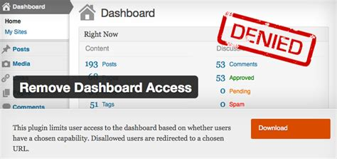 How To Remove Wordpress Dashboard Access