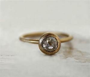 rustic engagement ring ice grey rose cut diamond ring moon With rustic wedding rings