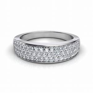 052 Ct Wide Band Pav Diamond Wedding Band Natalie Diamonds