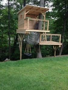 Baumhaus Auf Stelzen : cedar stage treehouse tree fort pinterest baumhaus ~ Articles-book.com Haus und Dekorationen