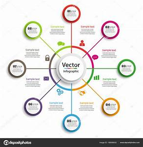 Infographic Design Template Circles Business Concept