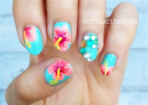 tropical nail designs tropical nail designs for the summer