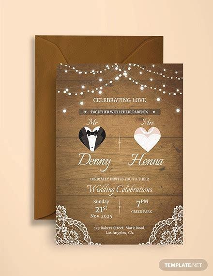 vintage invitation card designs psd ai indesign