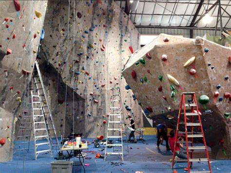 Rock Climbing Facility Metrorock From Boston Coming